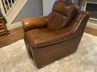 Sisi Italia brown leather recliner chair.