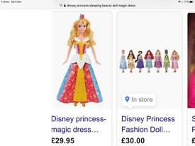 Disney princess sleeping beauty. £10. New still in box. Almost £30 to buy.