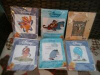 6 X POOH, PIGLET, TIGGER & EEYORE CROSS STITCH KITS ALL NEW AND SEALED.