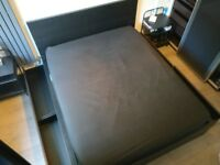 Ikea Malm king size bed with storage drawers