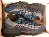 Blue NIKE AIR MAX 95 ULTRA MENS SIZE 9.5 BRAND NEW IN BOX