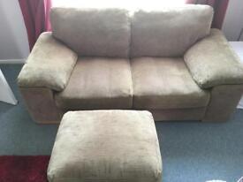 Harvey's 2 Seater Sofa & footstool.