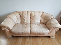 FREE Leather 3 Seater Sofa + Chair.