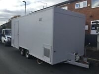 18ft catering trailer / twin axle / refurbished!