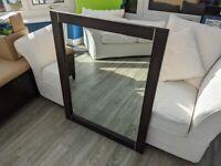 Brown Wooden Mirror