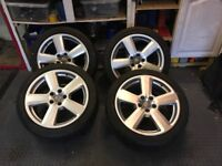 "Audi 18"" Genuine RS6 alloys with winter tyres."