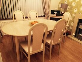 Cream dining table
