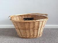 Bicycle basket. Wicker. Nearly new
