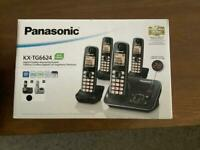 Panasonic quad home phones with answer machine.