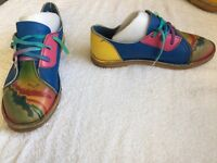 Crazy leather festival shoes size 7