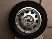 "Barely Used AUDI Single 15"" Alloy Wheel 8L0601025E, Continental Tyre + Audi Jack"