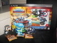 SKYLANDERS SUPERCHARGERS Starter Pack for PS3 in original packaging + 3 extra figures
