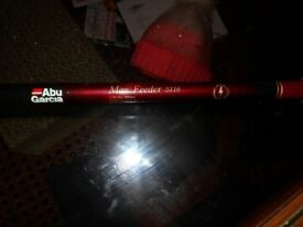 Abu Garcia max Feeder 5116 / 11.6 length / 3oz cast / fishing rod /3 pce/unused