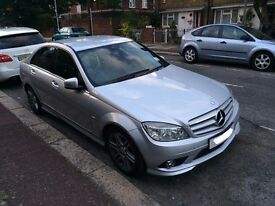 Mercedes C220 CDI AMG Sport silver leathers sat nav bluetooth 2009 (fully loaded)