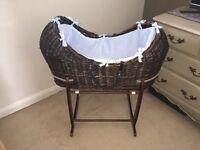 Clair de Lune cocoa Noah moses basket (pick up only)