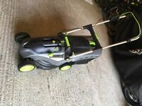 Gtech Lawn Mower model CLM001 with additional battery