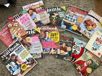 Jamie Oliver year books and magazines