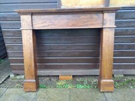 Oak handmade firesurround £50