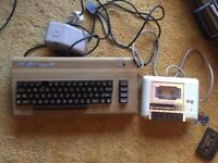 Commodore 64 w/tape drive & power supply