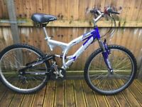 Rhino Full Suspension Mens Mountain Bike Aluminium Mens