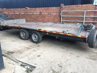 Car transport trailer tilt bed