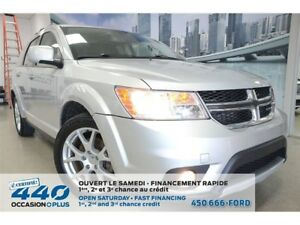 2014 Dodge Journey R/T | AWD, CUIR, TOIT, NAV, 7 PASSAGERS