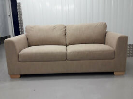 JOHN LEWIS ex-display COOPER 3 seater sofa settee fixed back in zarao putty fabric / free delivery