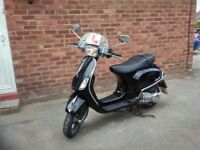 Vespa for sale, great moped, black, 2 owners since new