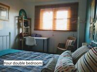 Double Room; spacious houseshare; Min 2mo contract; near Dennistoun; 8mins from Glasgow centre