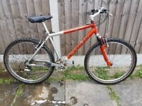 mens mountain bike carrera 26 inch wheels front suspension vgc