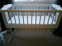 Baby mini cot - extra mattress - rocking cot