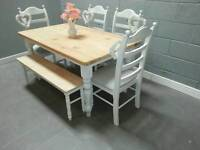 5ft Shabby Chic table set