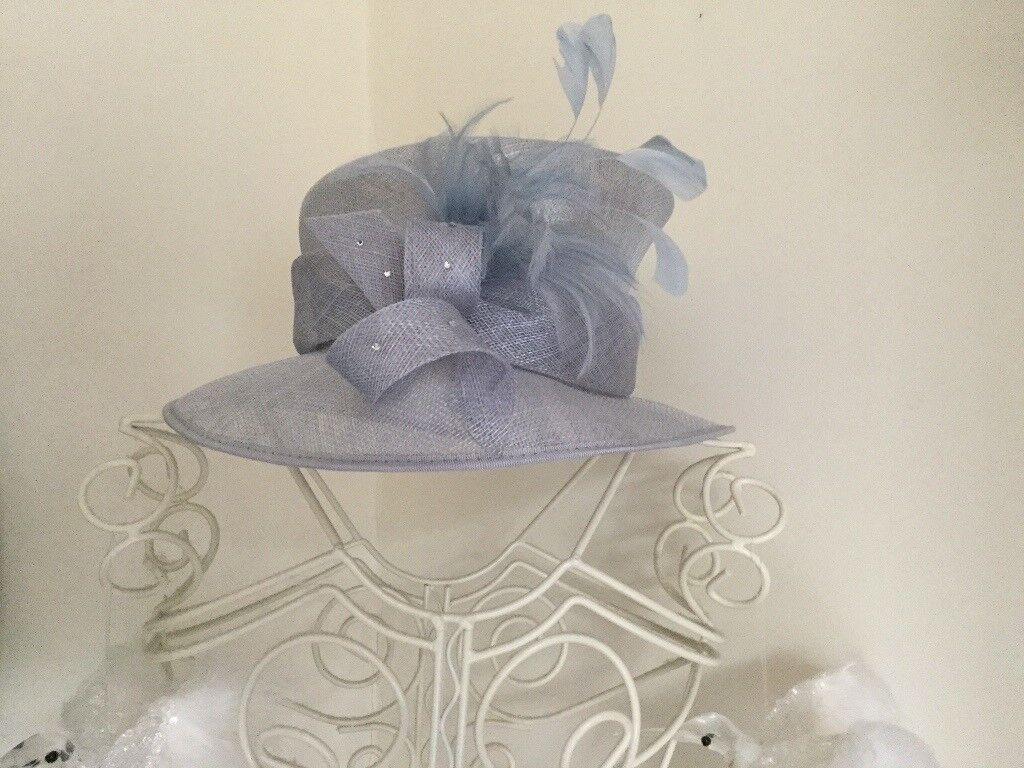 Ladies light blue silver hat from Hat Box worn once excellent condition  fcdb5677ac6