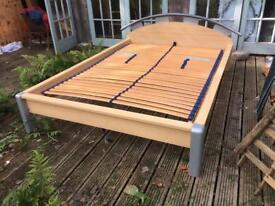 Wooden sprung double bed frame