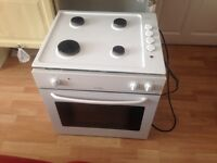 Cooker electric fan assisted and gas hob