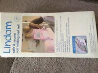 Lindam safe & secure soft folding bed rail - pink