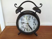 Black French country style mantel clock