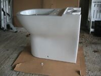 Closed back toilet