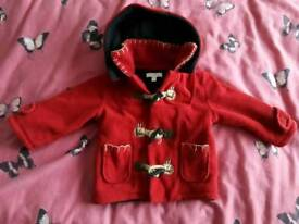 Baby Girl Red Coat 6-9 Months