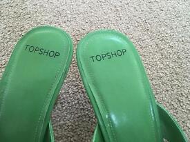 Top Shop Leather Sandals Size 8