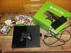 Xbox one with one controller and 4 games
