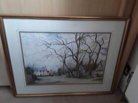 Two original paintings by local artist Ken Ingham