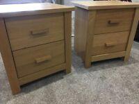 Pair of oak Bedside tables