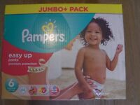 Pampers Easy Up Pants - Jumbo+ Pack - Contains 64 New