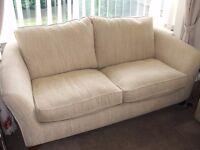 Marks & Spencer 'Tulsa' 3-piece suite. Colour, Sensiasiria Cream. Sofa and two chairs.