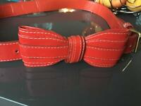 Lovely adjustable Women's red belt with bow size s/m