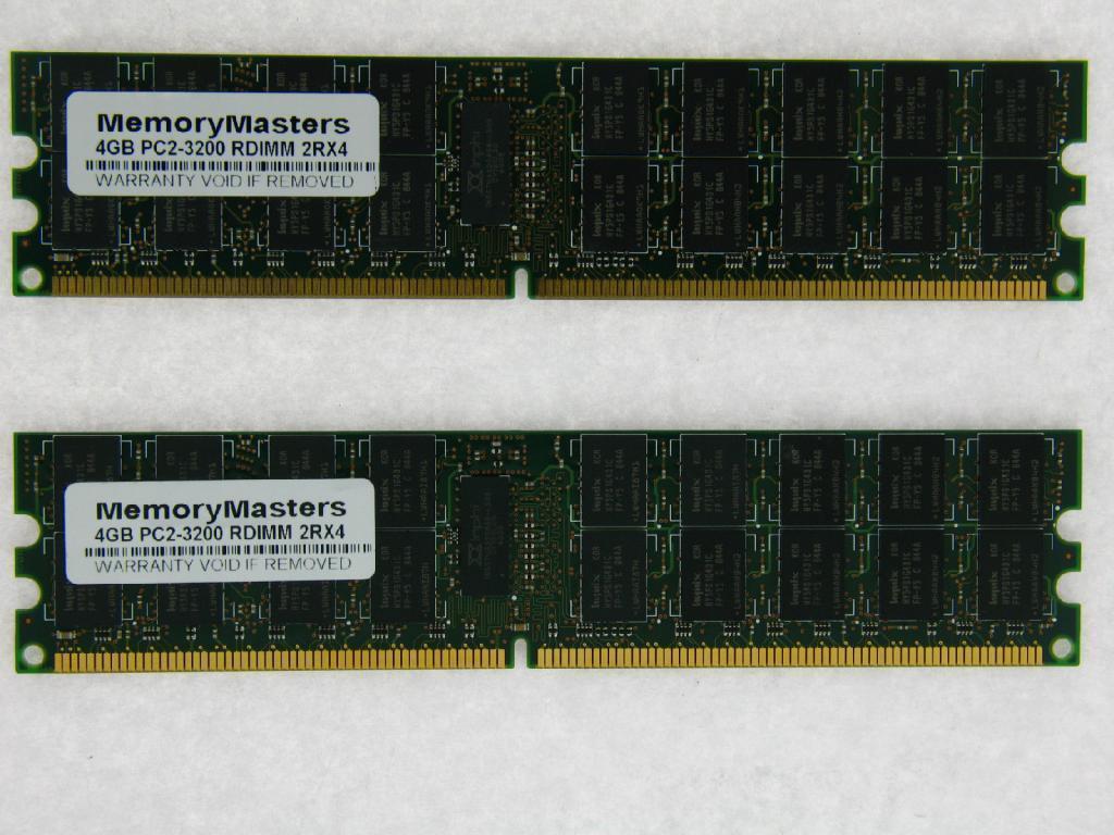 4GB 2x 2gb PC2-3200R DDR2 Dell PowerEdge SC1425 SC1425SC ECC Server Memory RAM