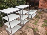 FOR SALE - SHELVES AND COFFEE TABLE SETS AVAILABLE AS WHOLE SET (£250) OR SEPARATELY (PRICES BELOW)
