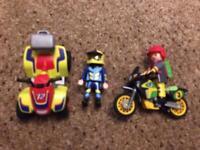 Playmobil quad bike and motorbike