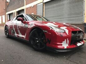 Nissan Gt-R 2009 3.8 V6 Black Edition 2 door AUTOMATIC, 700BHP SVM STAGE 4.25, FSH, WRAPPED IN CAMO